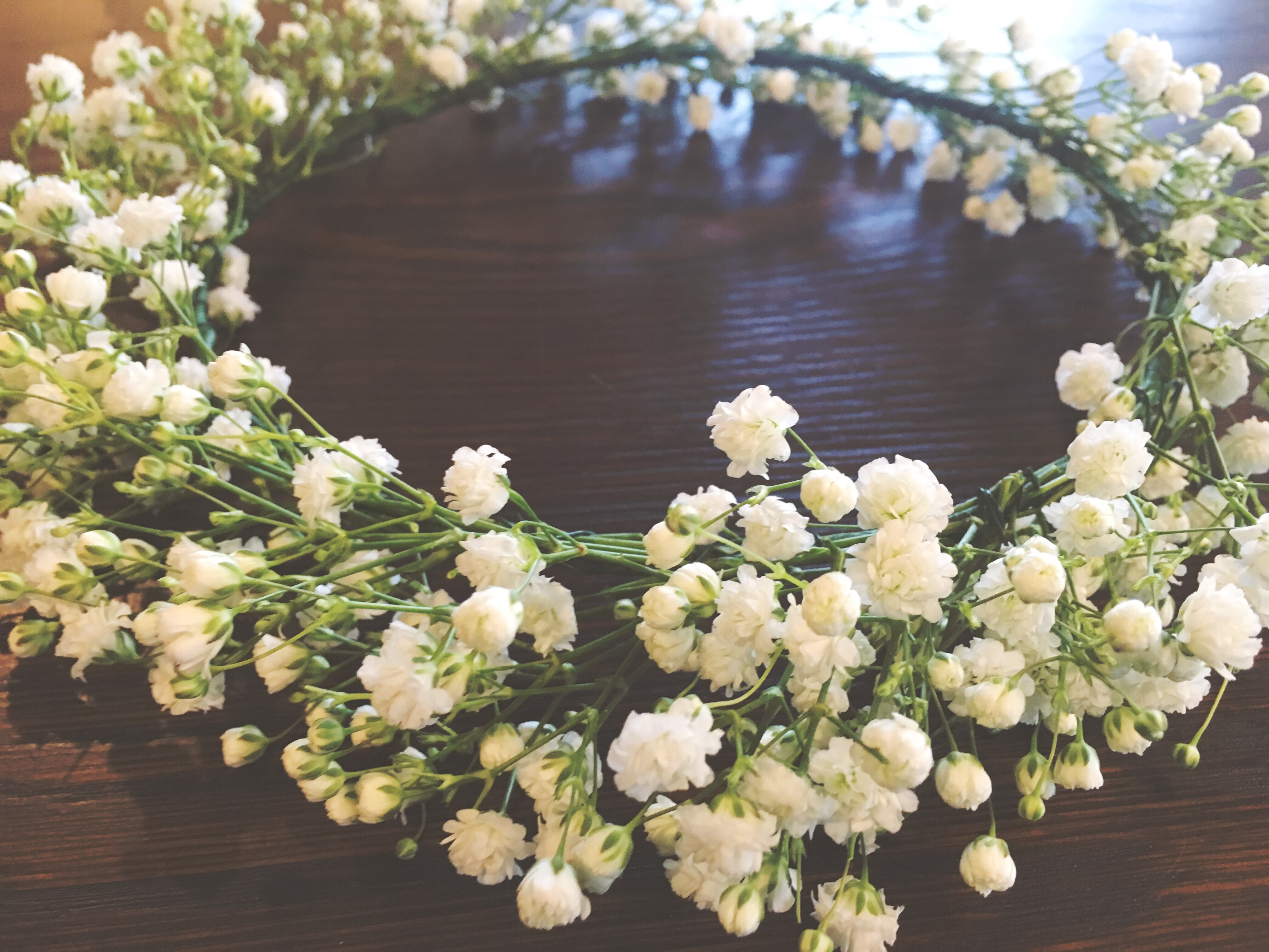 Real flower crown i love that julie chose real babys breath other than the fact that its the softest and most delicate flower it also has a beautiful meaning izmirmasajfo